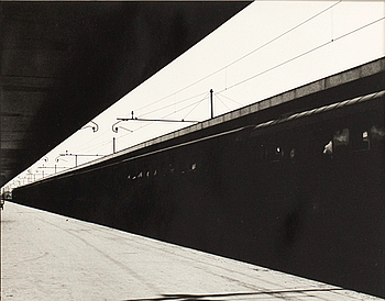 LENNART OLSON, photograph, 'Stazione Termini II Rom 1953', signed and dated.