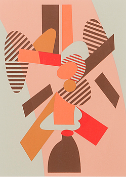 LAURI AHLGRÉN, serigraph, signed and numbered 68/75.