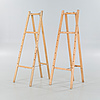 A pair of easels, second half of the 20th century