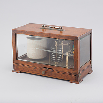 "An early 20th century barograph, ""Hezzanith"" by Heath & Co, England."