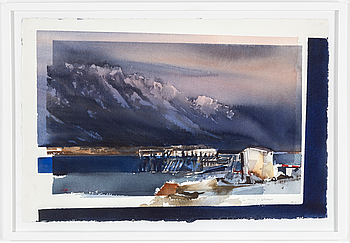 LARS LERIN, watercolour, signed Lars Lerin and dated mars (March) -92.
