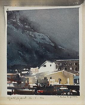 LARS LERIN, akvarell, signerad Lars Lerin och daterad Hjellskjaret 16.5.92.