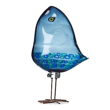 "34. ALESSANDRO PIANON, a ""Pulcino"" glass bird, Vistosi, Italy 1960's."