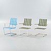 Three garden chairs, second half of the 20th century