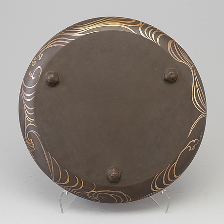 A lacquered wooden suiban basin by the zohiko company, taisho period.