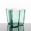 Alvar aalto, a green tinted glass vase, karhula, finland ca 1937-49, model 9750.