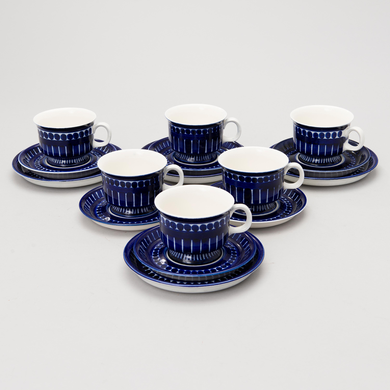 11115601 bukobject & ULLA PROCOPÉ A 10-piece u0027Valenciau0027 porcelain coffee set for Arabia ...
