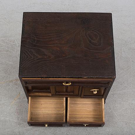 A japanese wooden cabinet, meiji (1868 1912)