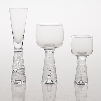 "TIMO SARPANEVA, GLASSERVISDELAR, 20 st, ""Arkipelago"", Iittala."