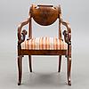 A russian armchairs, biedermeier first half of the 19th century