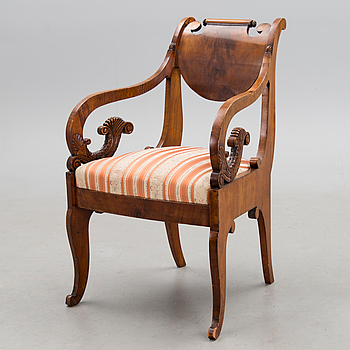 A RUSSIAN ARMCHAIRS, biedermeier first half of the 19th century.