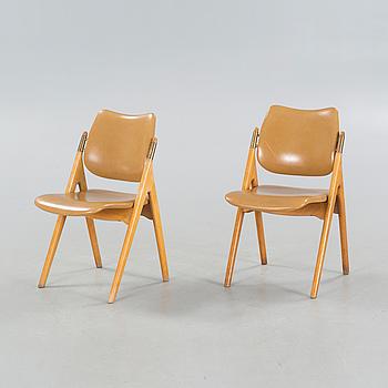 OLAV HAUG, stolar, ett par, Elverum Møbel- og Trevarefabrikks (EMT), 1950-tal.