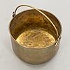 A brass basket