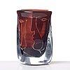 "Ingeborg lundin, an ariel glass vase ""faces"", orrefors, sweden 1971."