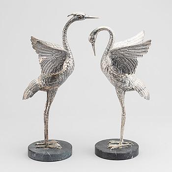 FIGURINER 2 st silver Spanien 1970-tal ostämplade.