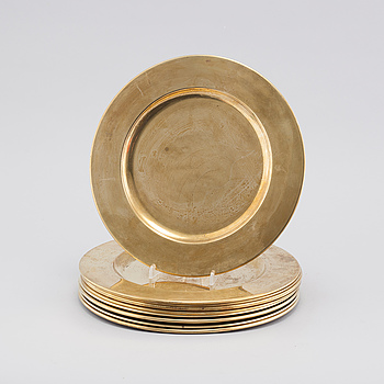 10 brass plates, second half of the 20th century.