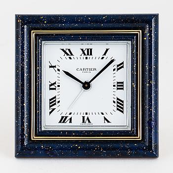 CARTIER, Paris, väckarklocka, 75 x 75 mm,
