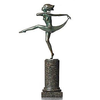 170. JOSEF LORENZL, skulptur, Österrike, Art Déco.
