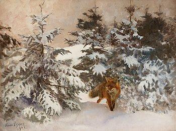 BRUNO LILJEFORS, olja på duk, signerad Bruno Liljefors och daterad 1921.