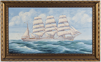 UNKNOWN ARTIST, oil on cavnas, signed G Lindahl, dated 1937.