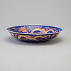 A iron-red and blue porcelain dish, 20th century, with guangxus six character mark.