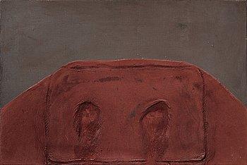 """379. Antoni Tàpies, """"Petit Vellut Vermell"""" (Pequeño terciopelo granate y gris)."""