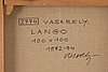 "Victor vasarely, ""lango 2774""."