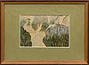 Konrad mÄgi, akvarell, signerad och daterad 1906