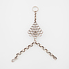 Cecilia johansson, göteborg, 1969, a faceted rock crystal hand jewellery.