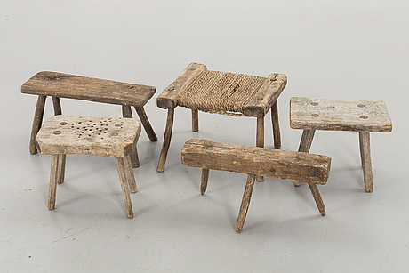 Five folklore stools
