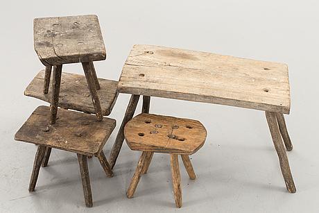 Five stools