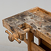 A mid 20th century pine carpenters bench