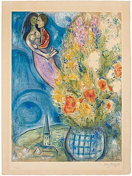 "519. Marc Chagall After, ""Les Coquelicots""."