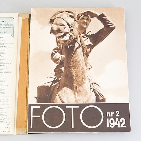 Tidskriften foto, 1939 1947, nio volymer