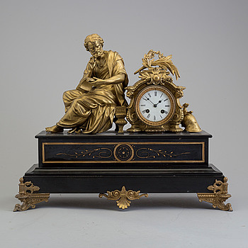 A second half of the 19th century mantle clock.