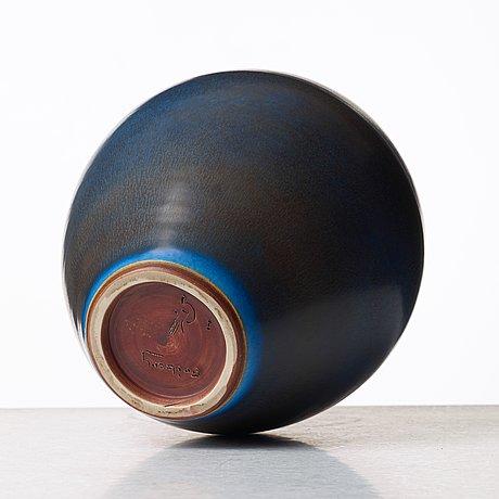 Berndt friberg, a stoneware vase, gustavsberg studio, sweden 1967.