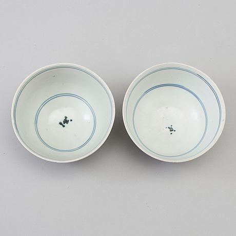SkÅlar, ett par, porslin. qingdynastin, 1700 tal