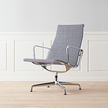 """Kontorsstol grå """"EA 116"""" Charles & ray Eames för Vitra."""
