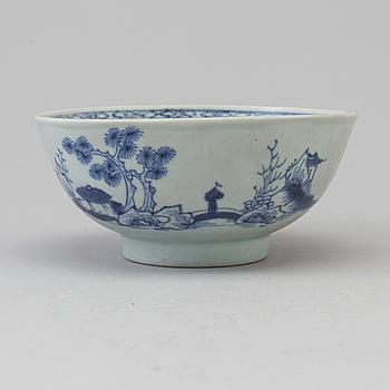 SKÅL, porslin. Qingdynastin, Qianlong (1736-95). Nanking Cargo.