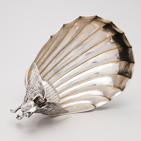 SkÅl pÅ fot, silver, mästarstämpel al, sankt petersburg, cirka 1900