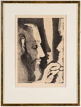 PABLO PICASSO, aquatint etching, signed and numbered 40/50.