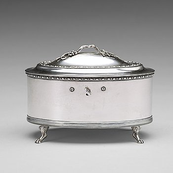 Pehr Zethelius, Sockerskrin, silver, Stockholm 1797, gustavianskt.
