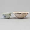 Two blue and white bowls, ming dynasty (1368 1644)