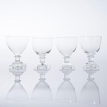 Eighteen 20th century beer glasses.