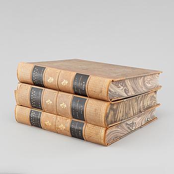 "Three book ""Svenska fåglar (Swedish birds)"" with images by M, W & F VON WRIGHT, printed by Börtzells AB, 1924-1929."