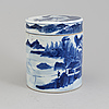 A blue and white jar with cover, qing dynasty, jiaqing (1796 1820)