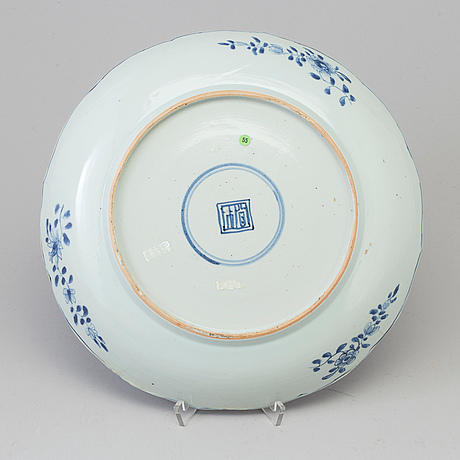 A blue and white dish, qing dynasty, qianlong (1736 95)