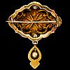 A brooch, pearl, 18k gold. otto roland mellin, helsinki finland 1874.