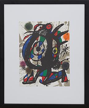 JOAN MIRÓ, färglitografi, ur Miró Lithographe III.