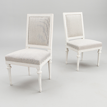 A PAIR OF GUSTAVIAN CHAIRS, late 18th century, Swedish.